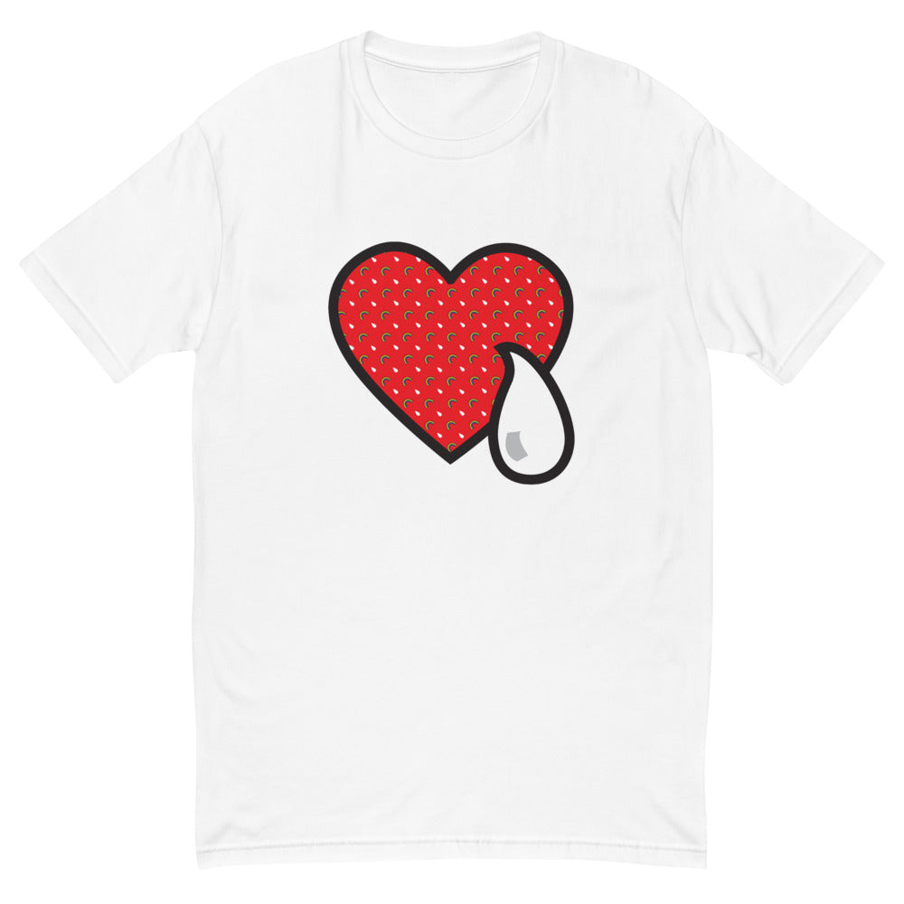 RAINBOW HEART AND TEAR RED /. Short Sleeve T-shirt