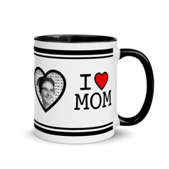 I HEART MOM / Mug BLACK Inside