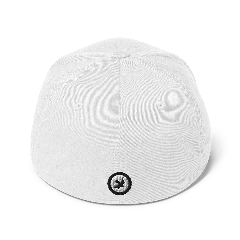 BLACK & WHITE / PEACE Structured Twill Cap