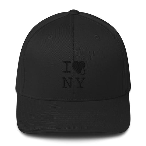 I HEART & TEAR BLACK HEART / Structured Twill Cap