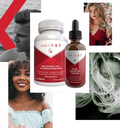 HairXT Hair Growth Supplement and Serum Kit