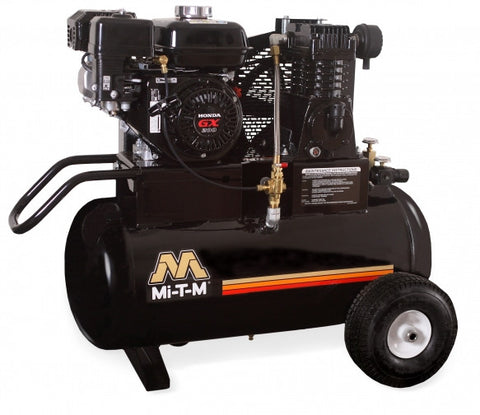Mi-T-M 20.0 Gal Gasoline Single Stage Air Compressor (Honda) AM1-PH65-20M
