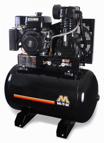 Mi-T-M 80.0 Gal Gasoline Tank Mount Two-Stage Air Compressor: Honda Engine