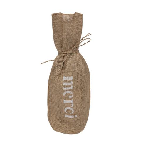 Hessian wine bag / Sac à vin en toile de jute
