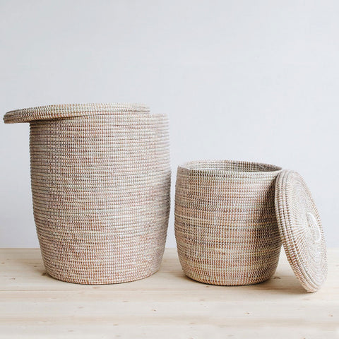 Woven African Storage Baskets And Hampers Connectedgoodscom