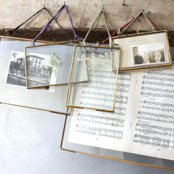 Brass & Glass Photo Frames