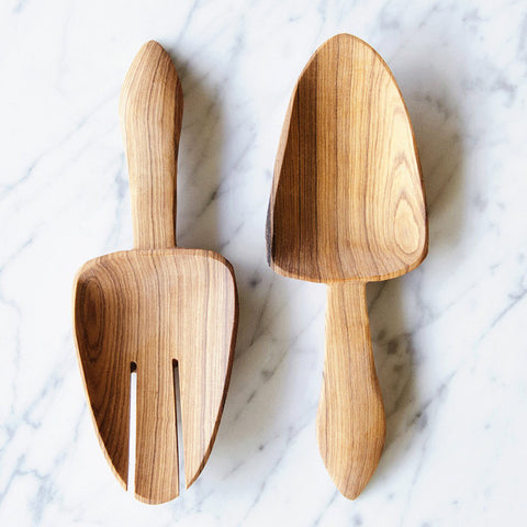 Wild Olive Wood Shovel Salad Servers