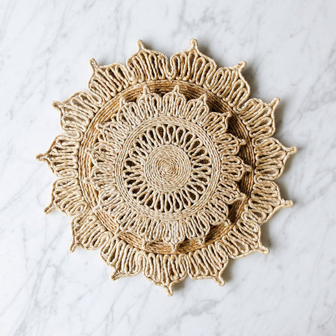 Jute Trivet Hot Pad Set - Star