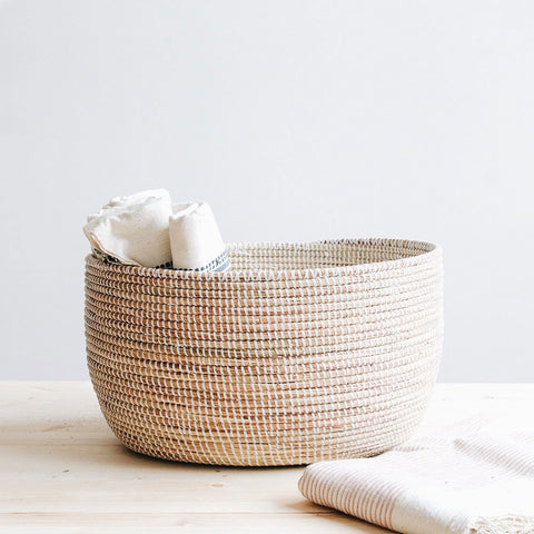 High Quality Georgia Woven Storage Basket   White ...