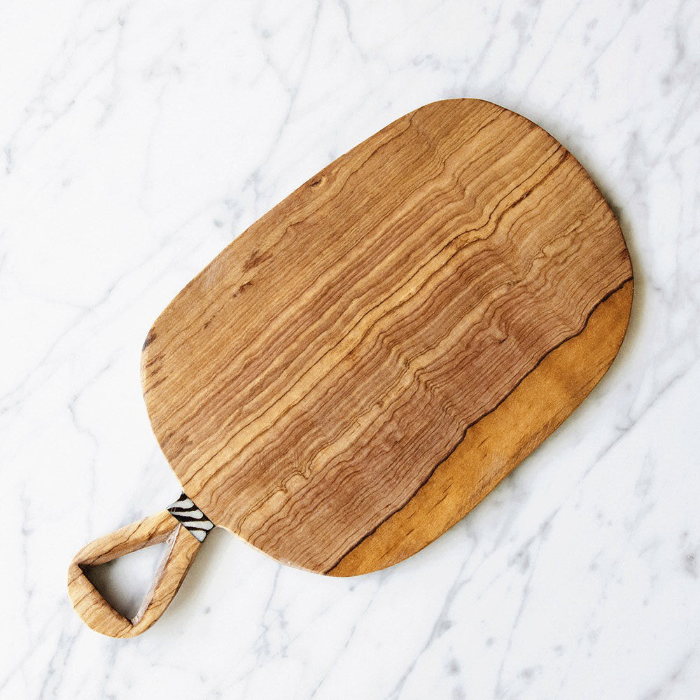 Wild Olive Wood Cheese Cutting Board