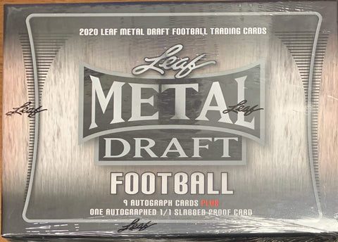 2020 Leaf Metal Draft Football Jumbo