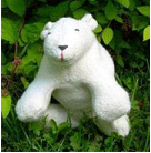 Organic Cotton Polar Bear with natural dyes