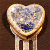 Recycled Glass Pottery Heart Bookmark