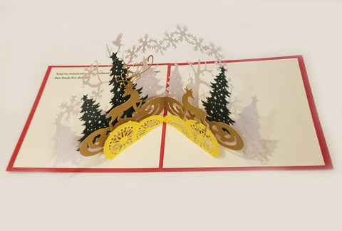Pop-up Holiday Tree Gift Cards