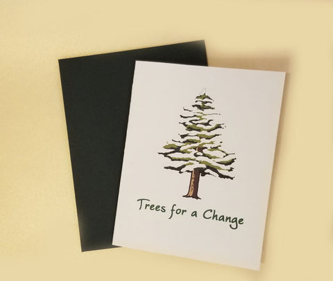 Winter Holiday Tree Gift Cards
