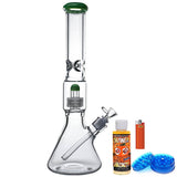 16 Inch Matrix Perc Beaker Glass Bong Bundle