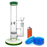 9 inch Fritted Perc Glass Bong Bundle