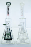 Quantum Sci Imperial Pyramid Beaker Water Pipe Bong with Chandelier Perc