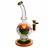 Quantum Sci Glass Bong Water Pipe green side