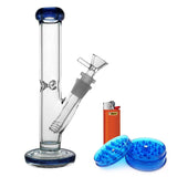 9 inch Straight Glass Bong Bundle