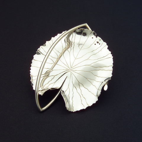 Sterling silver Water Lily brooch