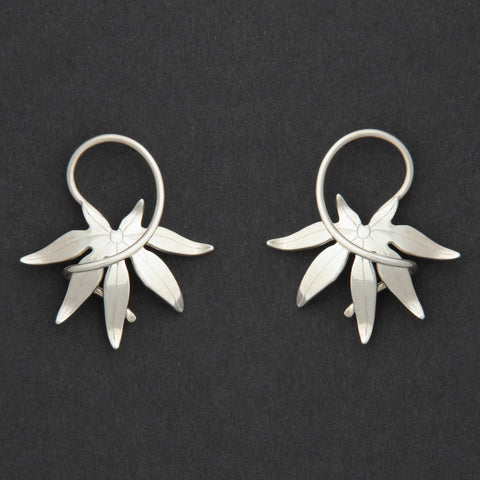 Sterling silver Japanese Maple earrings