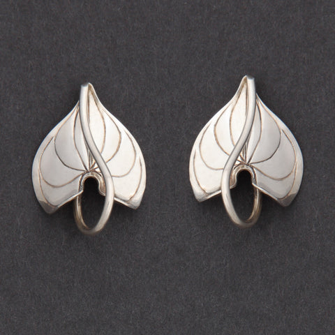 Sterling silver Morning Glory earrings