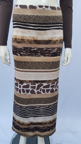 Falda larga Animal print talla S-M-L-XL