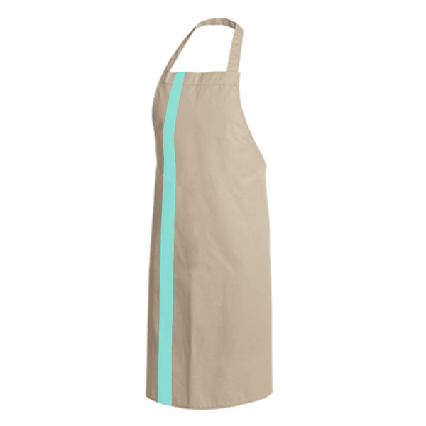 PAPRIKA beige bib chef and service apron with CYOU customization