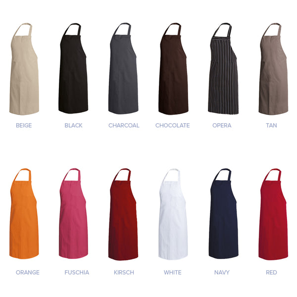 PAPRIKA multi-color bib aprons service wear