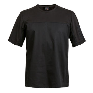 B-SHIRT black breathable chef t-shirt with dry up technology