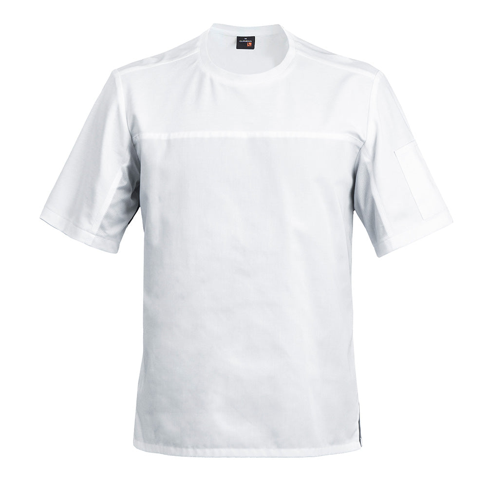 B-SHIRT white breathable chef t-shirt with dry up technology