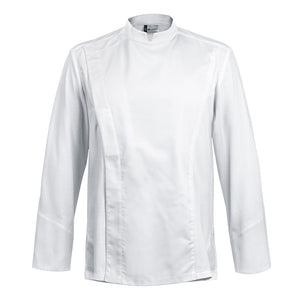 C-ONE long sleeve executive white chef jacket with hidden snap buttons
