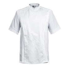 FIRENZE affordable high quality men's chef jacket, white short sleeve