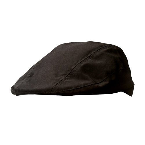 CAPRE machine washable black chef beret cap with elastic band