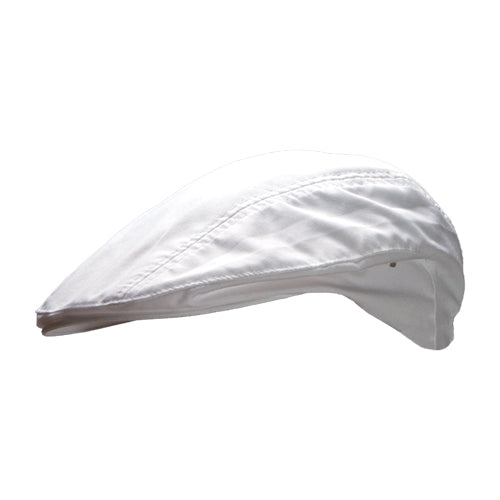 CAPRE machine washable white chef beret cap with elastic band