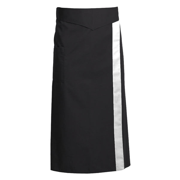 CORIANDRE black colored French apron with ties and CYOU customization