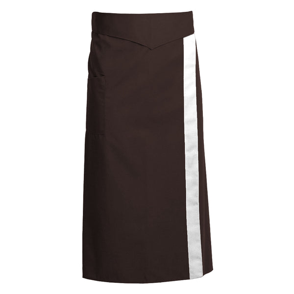 CORIANDRE chocolate colored French waist apron with ties and CYOU customization
