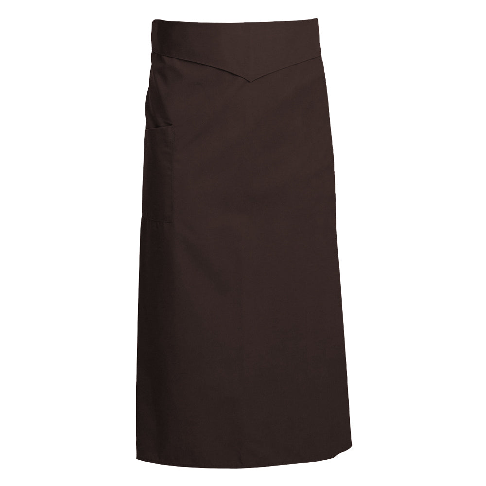 CORIANDRE chocolate colored French waist apron with ties
