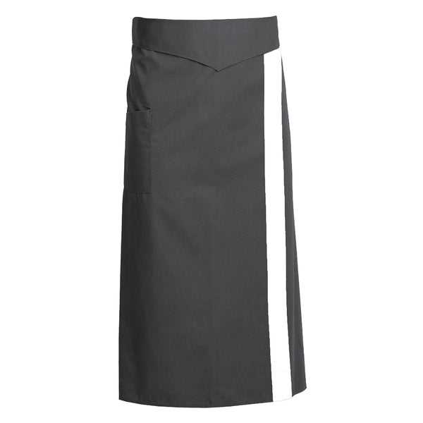 CORIANDRE charcoal colored french waist apron with ties and CYOU customization