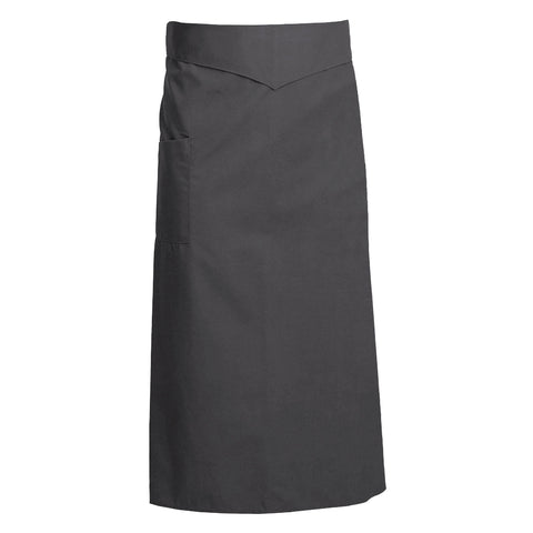 CORIANDRE charcoal colored french waist apron with ties