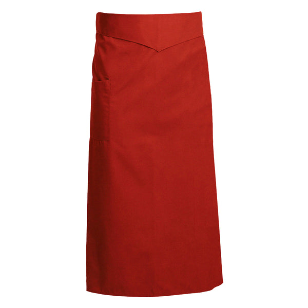 CORIANDRE red colored French tie waist apron