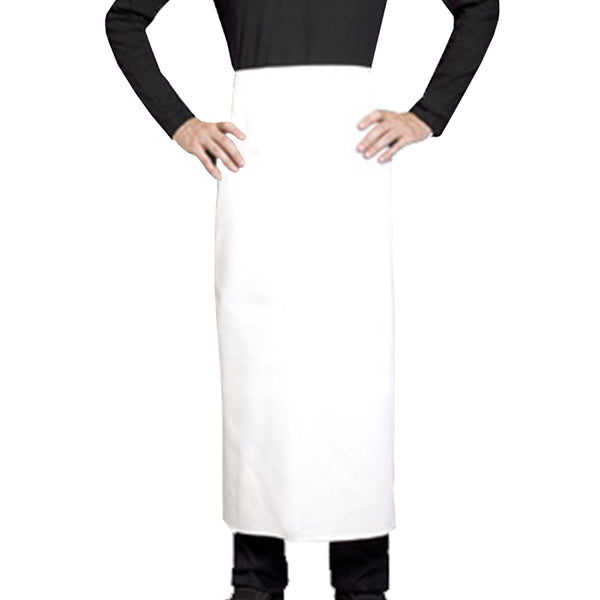 CURRY long white waist apron