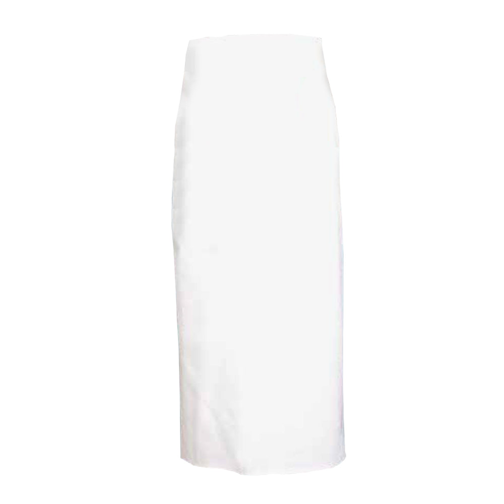 CURRY long white straight waist apron