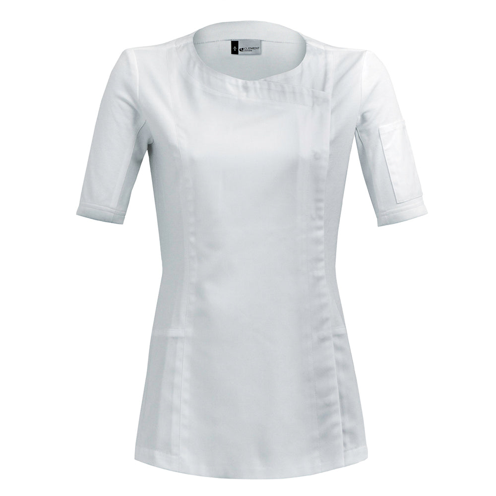 DOLCE women's short sleeve hybrid jacket white