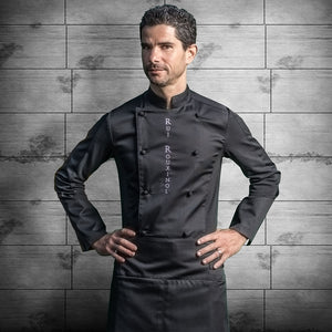 DREAM black executive chef jacket, classic style with lightweight dry-up technology