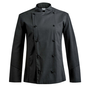 DREAM traditional style chef jacket with hybrid dry-up technology for executive chefs in black