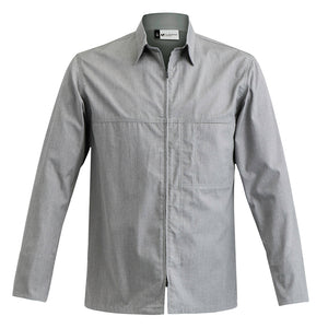 FACTORY grey center zip chef jacket