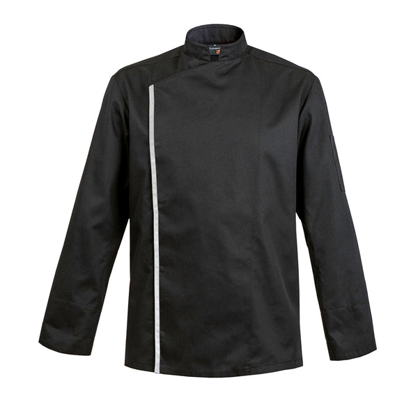 FIRENZE affordable high quality men's chef jacket, black long sleeve with CYOU customization