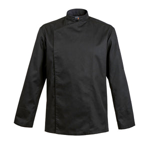 FIRENZE affordable high quality men's chef jacket, black long sleeve